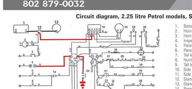 11031739354_2c83e3eb0e_z removing ammeter and replacing with volt meter land rover series 2a wiring diagram at bayanpartner.co