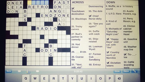 odin in the new york times crossword puzzle.