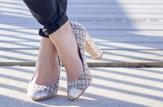 J.Crew Collection Etta tweed and glitter pumps