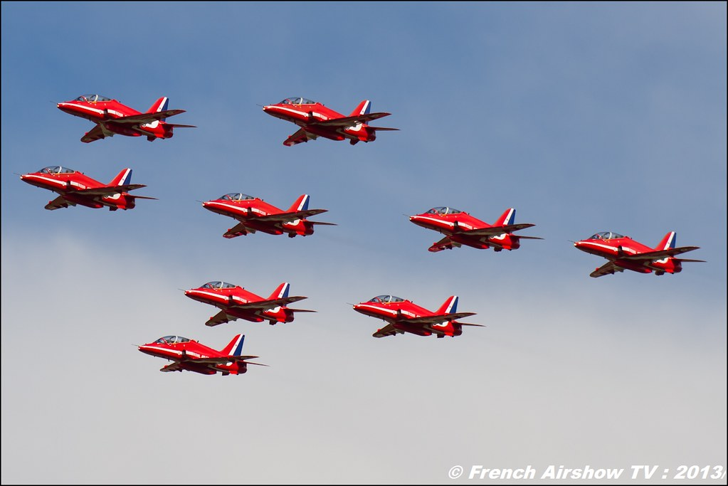 Red Arrows 60 ans Patrouille de France, Meeting Aerien 2013