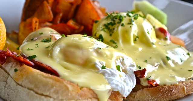 Oceans 234 restaurant, Deerfield Beach, Florida - lobster egg benedict