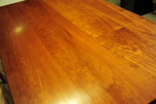 Waxed our table