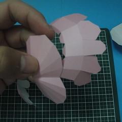 วิธีทำของเล่นโมเดลกระดาษรูปหัวใจ 009