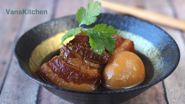 Vietnamese caramelized braised pork and eggs (Thịt kho tàu)