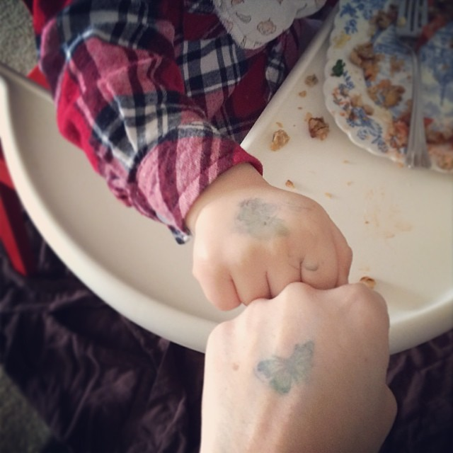 We got matching tats.   #tats #toddler #motherhood