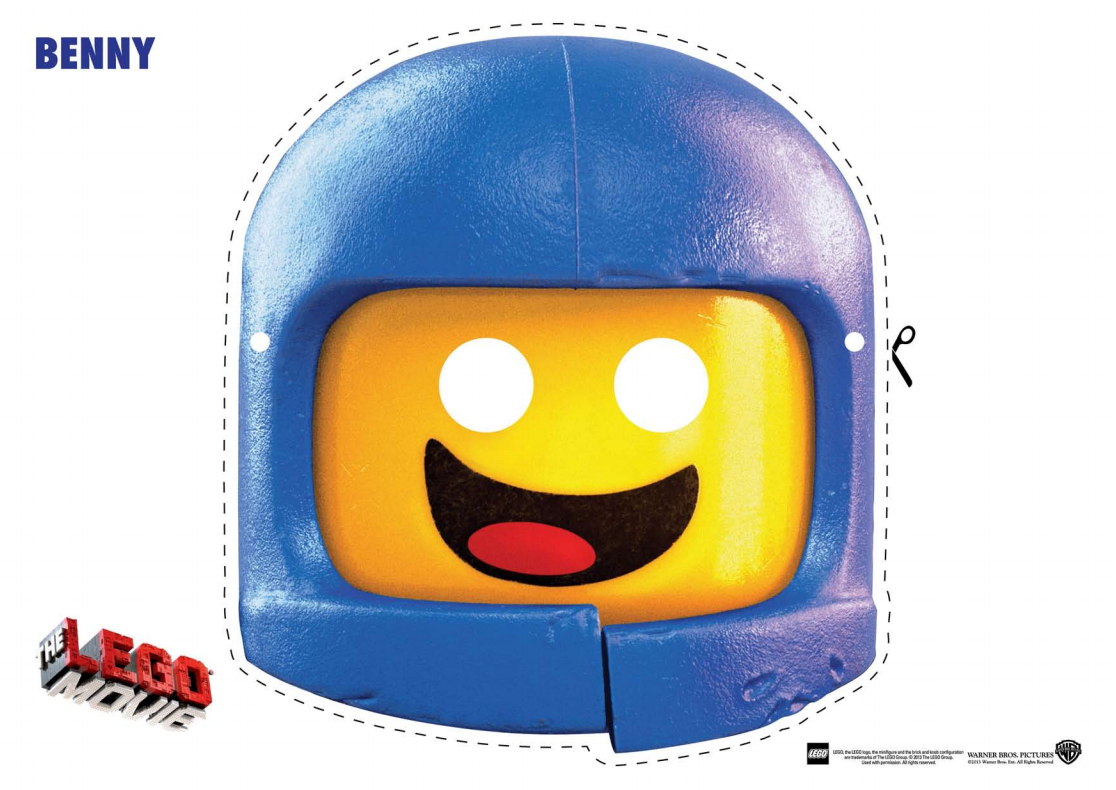 The LEGO Movie Character Mask Cut Outs The Brick Fan