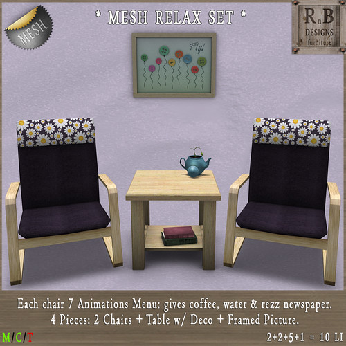 NEW ON SALE ! *RnB* Mesh Relax Set - Daisies (c)