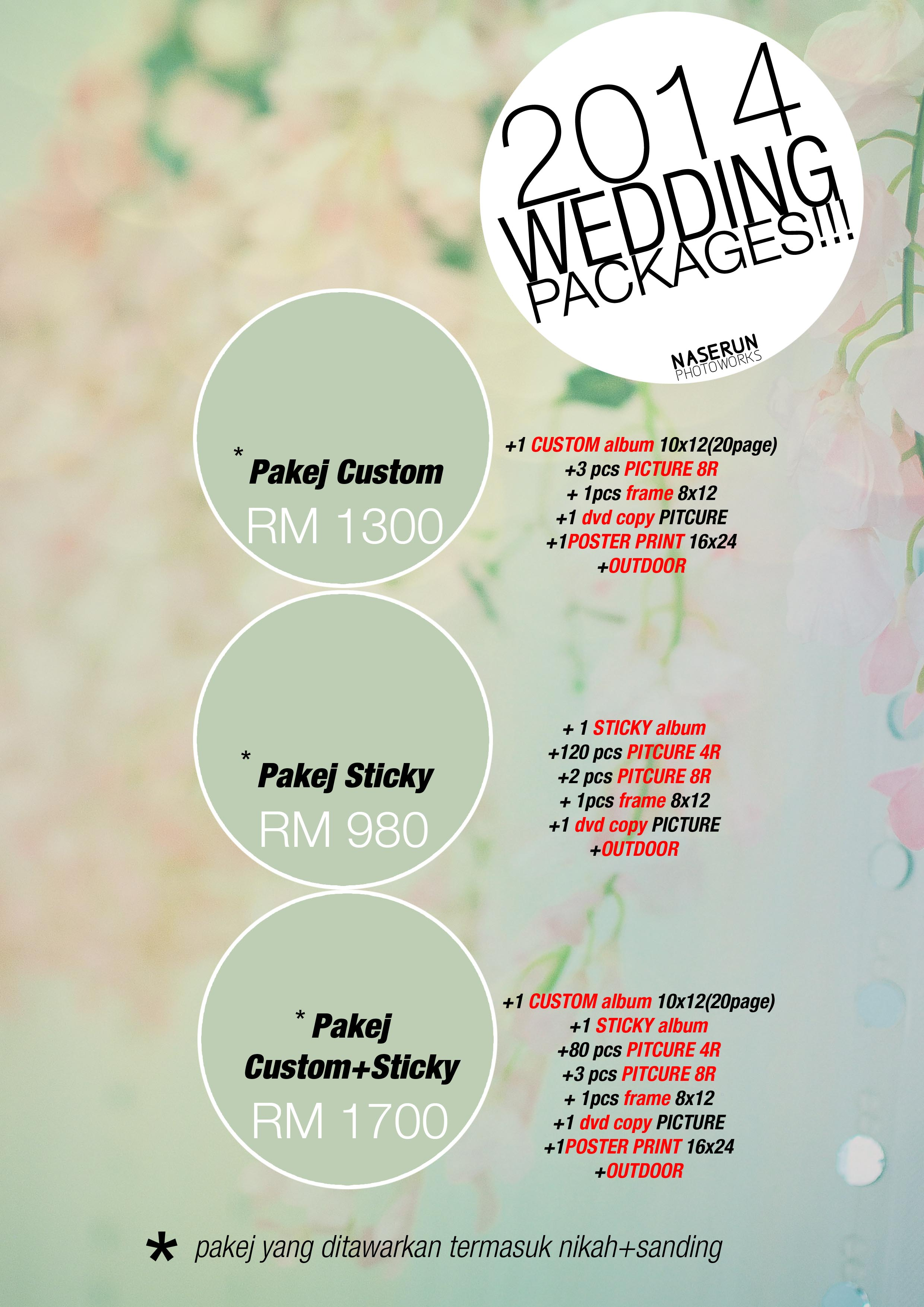 wedding packages2014