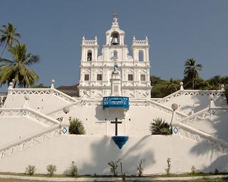 Imageof Our Lady of the Immaculate Conception. india church goa panasonic christianity panaji ind churchofourladyoftheimmaculateconception betim 14140mmf458 panasoniclumixg14140mmf458