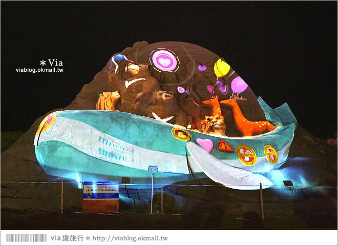 【2014台灣燈會在南投】南投沙雕燈會~夜間點燈好浪漫!還有精彩光雕秀30