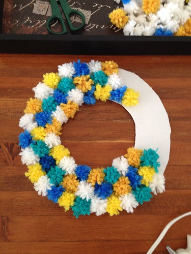 Almost Finished Olympic Inspired Wreath