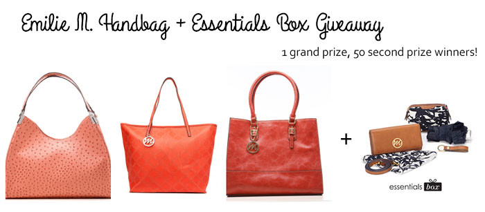 cute & little blog | emilie m handbag essentials box giveaway