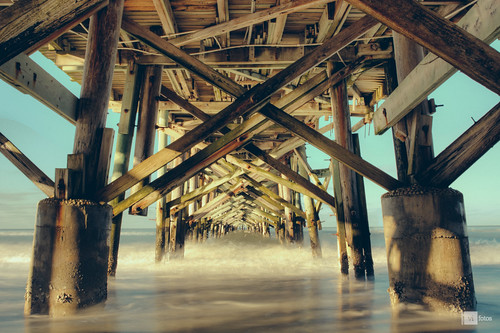 ocean morning seascape gulfofmexico pier nikon surf 28mm shoreline hdr centralperspective