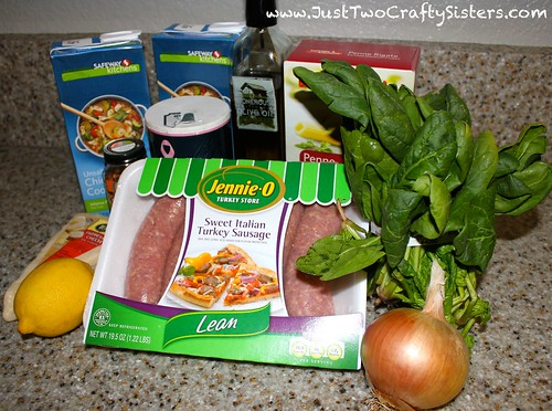 Skillet penne pasta ingredients