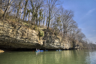 St. Louis Limestone outcrop, Barren Fork River, Warren County, Tennessee