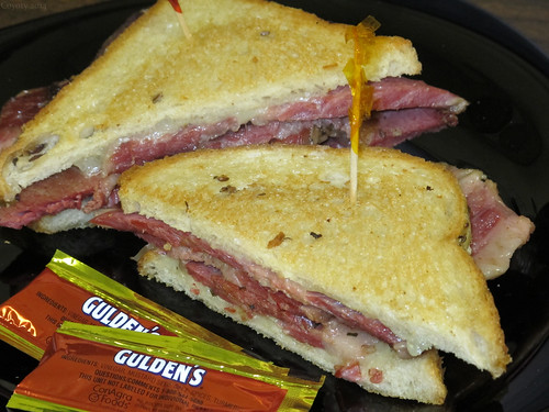 Corned beef Swiss melt on rye by Coyoty