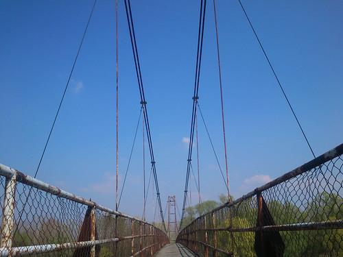 bridge fence river boards suspension naturallight cables drava project365