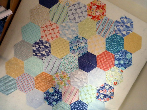 Half Hexie Layer Cake quilt