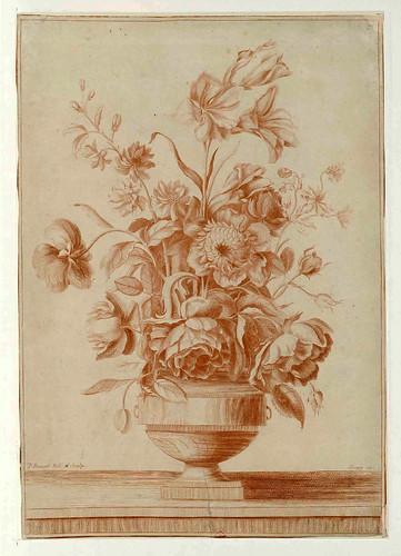 011-Vaso con flores-Oeuvre gravé de Jean Pillement..1767-Vol 3- INHA