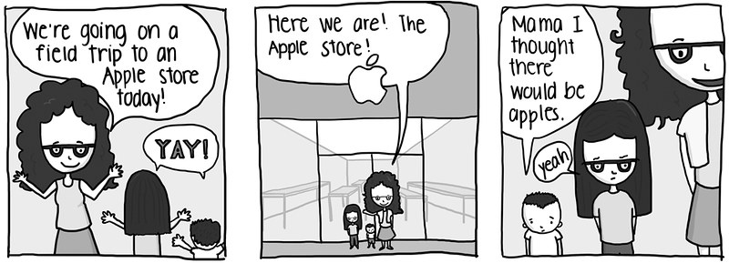 Cute Baby #48, Apple Confusion