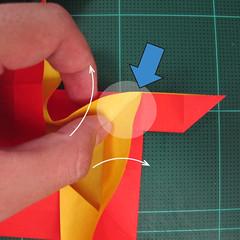 สอนวิธีพับกระดาษเป็นดอกกุหลาบ (แบบฐานกังหัน) (Origami Rose - Evi Binzinger) 009