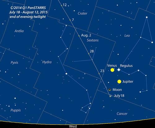 Comet C/2014 Q1 Panstarrs Finder Chart