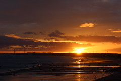Sunset in Lundin Links, Fife