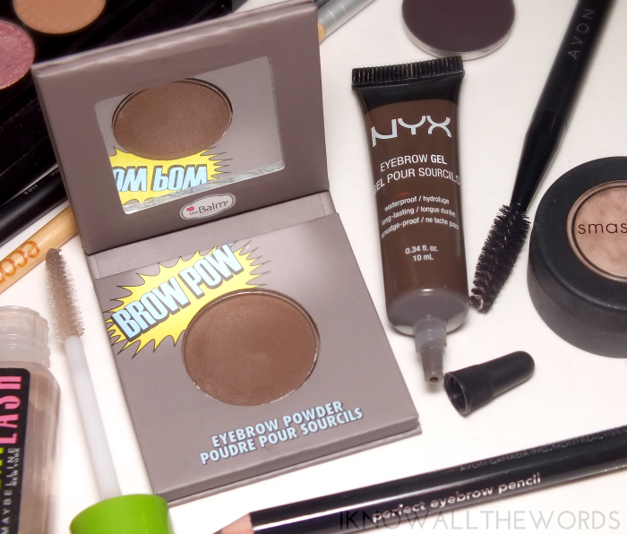 power brows- the balm brow pow and nyx eyebrow gel