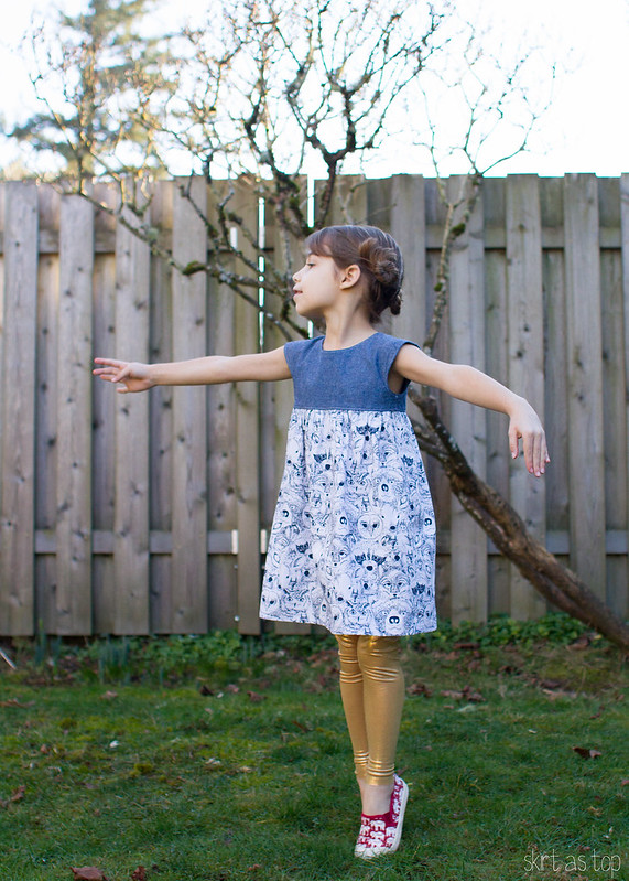 menagerie geranium dress // skirt as top
