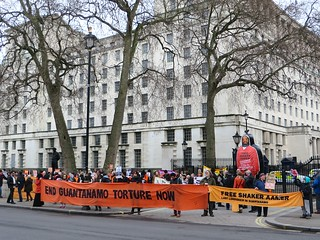 13 Years in Guantanamo - Protest for Shaker Aamer, Whitehall, February 14, 2015