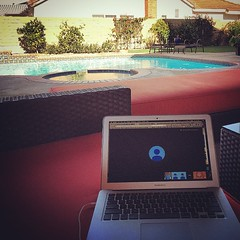 Another day at the office. #OC #HuntingtonBeach #poolside
