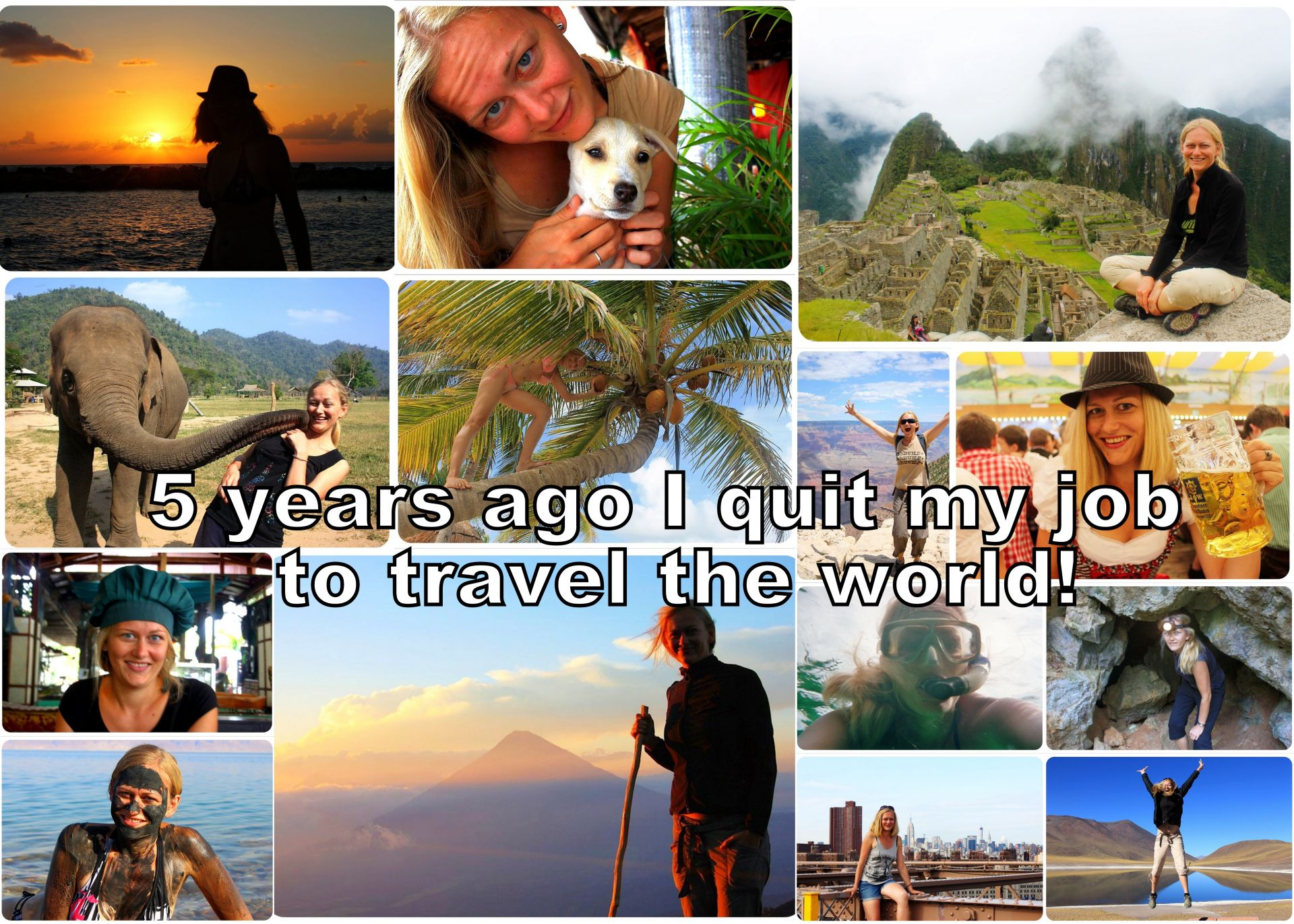 quit job to travel the world