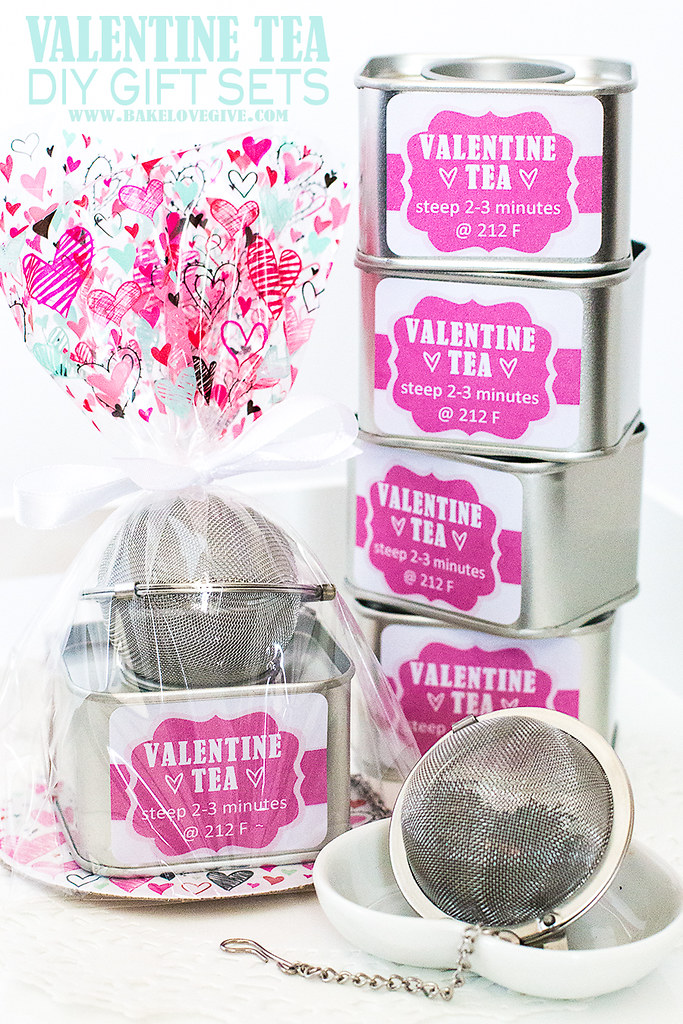 Valentine Tea DIY Gift Sets featuring custom blended teas