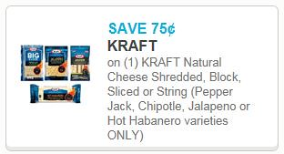 picture relating to Kraft Coupons Printable referred to as 0.75/1 Kraft Cheese and $1/2 Kraft Cheese Printable Discount coupons