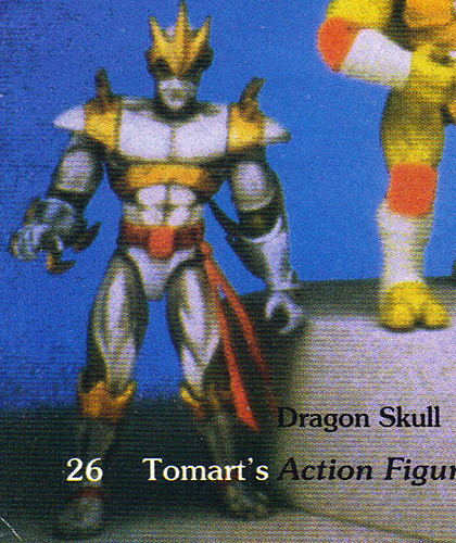 "Tomart's Action Figure Digest #xx :: pgs.26, 27 TOY FAIR '97, PLAYMATES ""NINJA TURTLES: THE NEXT MUTATION / ..early ""DRAGON SKULL"" the 'DRAGON LORD'   (( April 1997 ))"