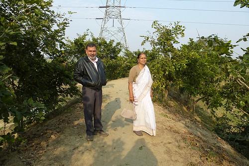 Prabhat Pandey and PromilaPathak on Mathiyani Ahar bund