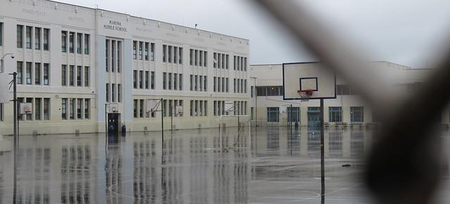 Marina School, rainy day.  San Francisco (2015)