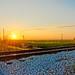 Small photo of Railroad Near Krome at Sunrise
