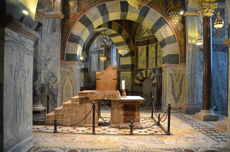 Throne of Charlemagne in Palatine Chapel, Aachen