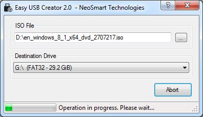 Easy USB Creator full screenshot