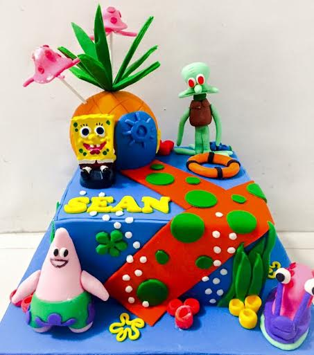 Spongebob Themed Cake by Sweetbuddies by Gerlyn and Noemi
