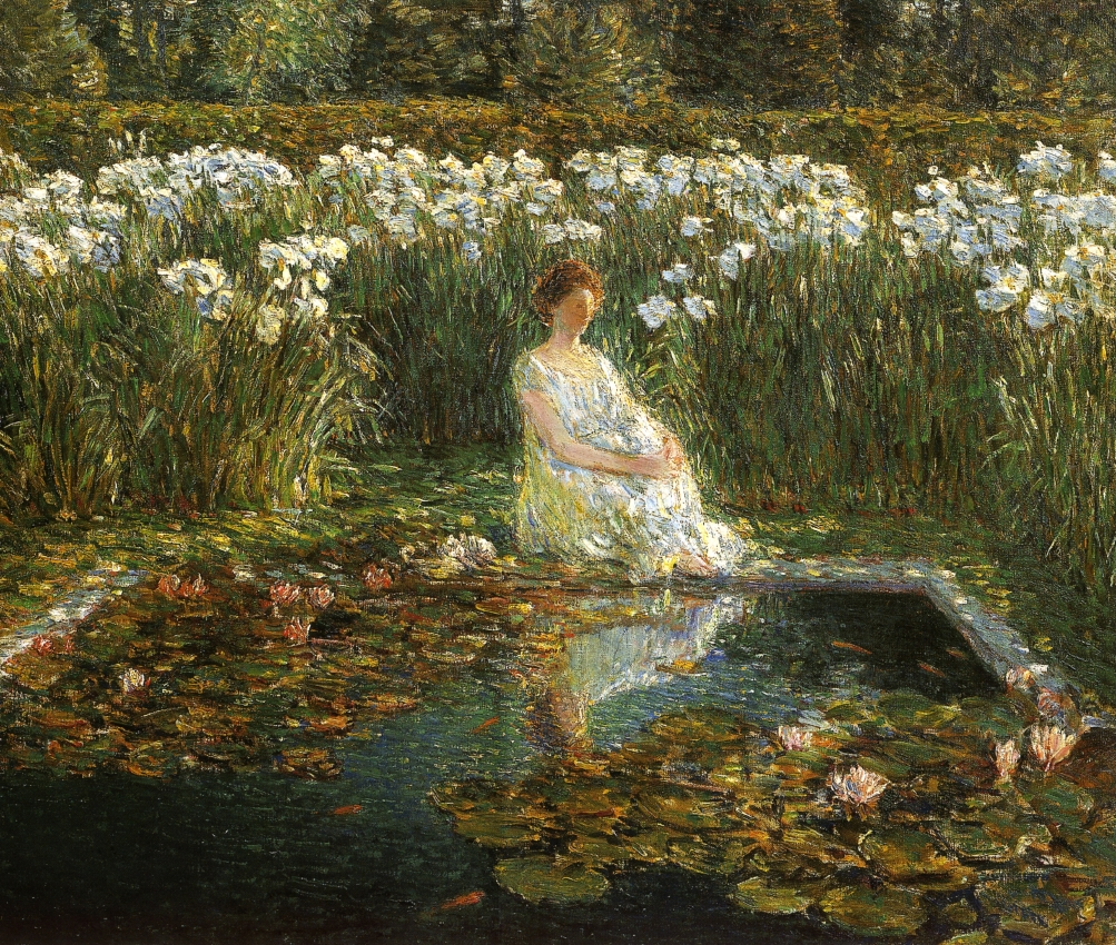 Lilies by Frederick Childe Hassam - 1910