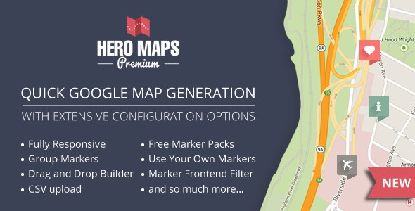 Hero Maps Premium v2.1.5 – Responsive Google Maps Plugin