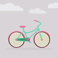 Children's Colorful Bicycle http://behance.net/Irshubaba http://instagram.com/irshubaba #Bicyle #Colors #Colorful #Drawing #Graphics #Animated #Animation #Sky #Illustration #Drawing #Graphicsdesigner #Children #Artist #Childrenbicycle #Art #InsaArt