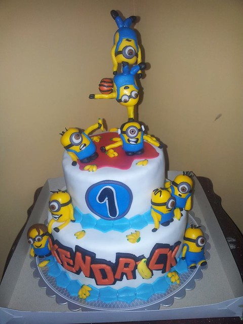 Minion Gravity Defying Cake by Divine Grace Magtibay
