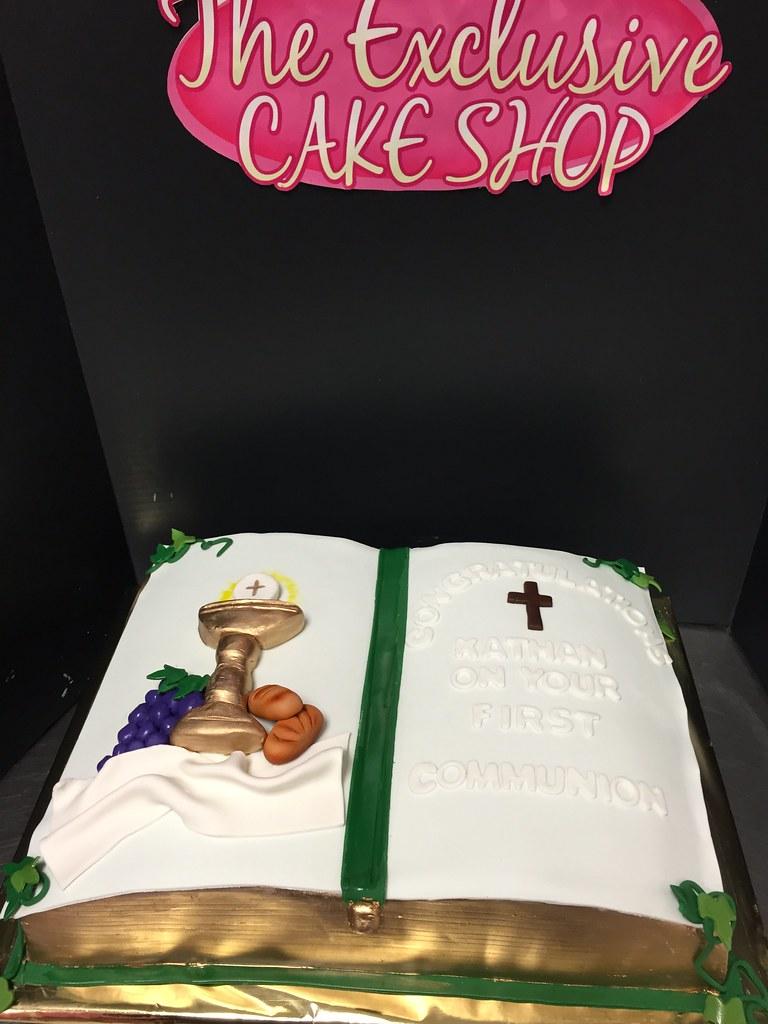 1st Communion Cake O A Stylefont Size08em