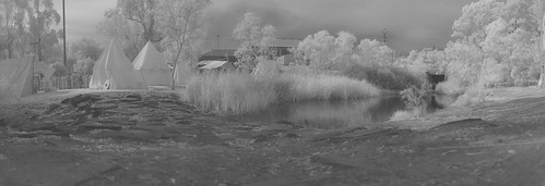 Viking Camp in Infra Red