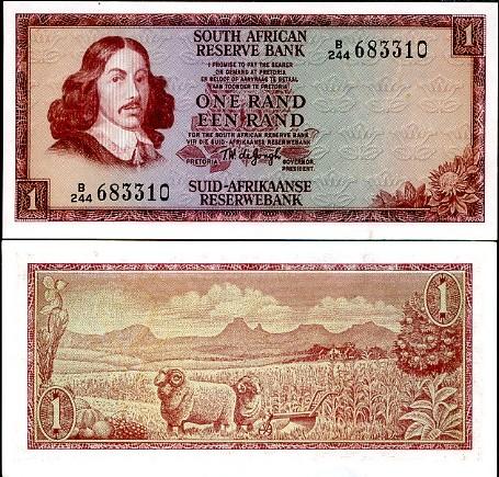 1 Rand Južná Afrika 1973-75, Pick 115