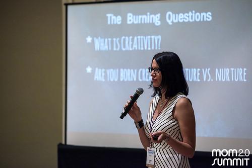 Lindsey Garrett speaking at Mom Summit