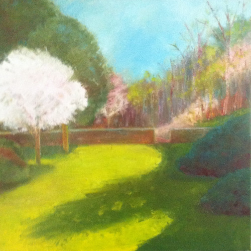 First of May at Long Hill (Oil Bar Painting as of May 26, 2013) by randubnick